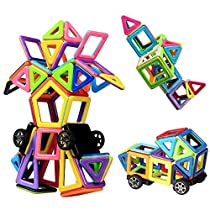 Magnetic Blocks, Innoo Tech Magnetic Building Blocks, 76+1 Pieces, ABS Plastic, Instruction Booklet Included, Construction Stacking Kids Toys, Creative and Educational Toys for Toddlers & Kids