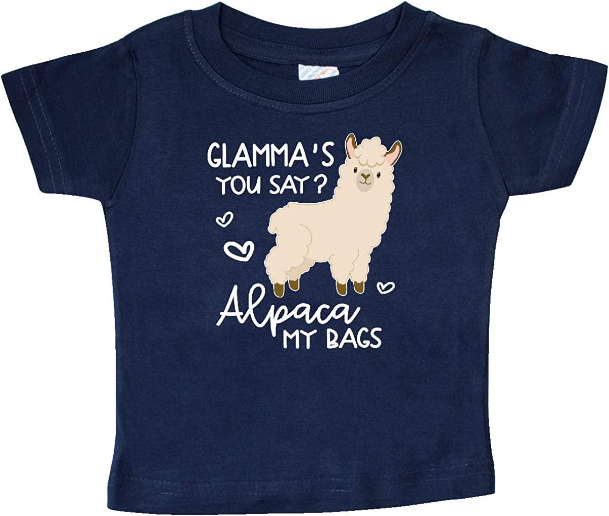 inktastic Glammas You Say Alpaca My Bags Baby T-Shirt