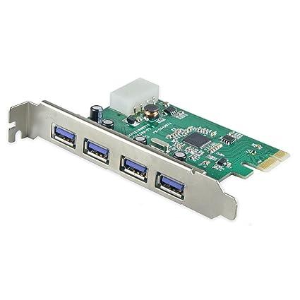 SYBA - Tarjeta PCI-Express 2.0 (4 Puertos USB 3.0)