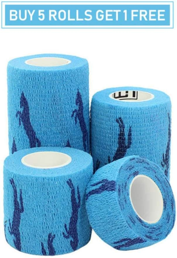 LKJHG vendaje autoadhesivo deportivo para juntas de dedos, 1 rollo de caballo azul., 5cmx4.5m
