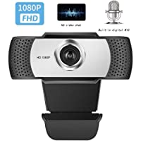 Ultra HD 1080P Web Camera with Microphone, 30 fps Video Calls and Recording, Webcam Computer for Video Calls, Studio, Online Class, Conferences, Recording, Games