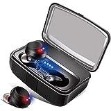 [進化版 Bluetoothイヤホン5.0 高音質 IPX8防水] ワイヤレス イヤホン 遮音 CVC8.0ノイズキャンセリング 両耳 ブルートゥース ワイヤレス スポーツイヤホン 左右分離型 ヘッドホン 自動ペアリング ブルートゥース イヤホン 自動ON/OFF