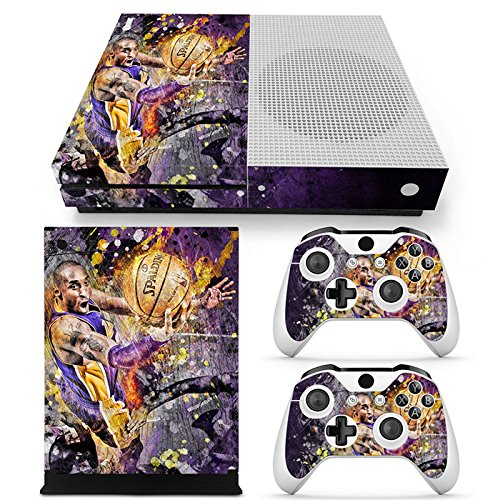 Lakers Skin (GoldenDeal Xbox One S Console and Wireless Controller Skin Set - Basketball NBA - XboxOne S XOS Sticker Vinyl)