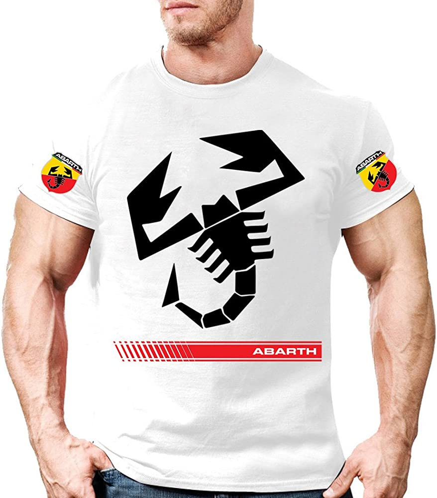 Camiseta Camisa T-Shirt tee Deportiva Hombre Abarth 500 Fiat Team Italia Motorsport Tuning Coche Moto Auto TSB.30: Amazon.es: Ropa y accesorios