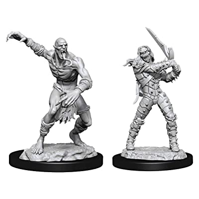 Dungeons & Dragons Nolzur's Marvelous Unpainted Miniatures: Wight & Ghast: Toys & Games