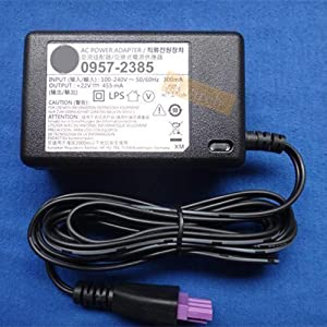 Genuine Power Supply for HP 0957-2385 Adapter PS 22V 455mA AC/DC Cable for Printer