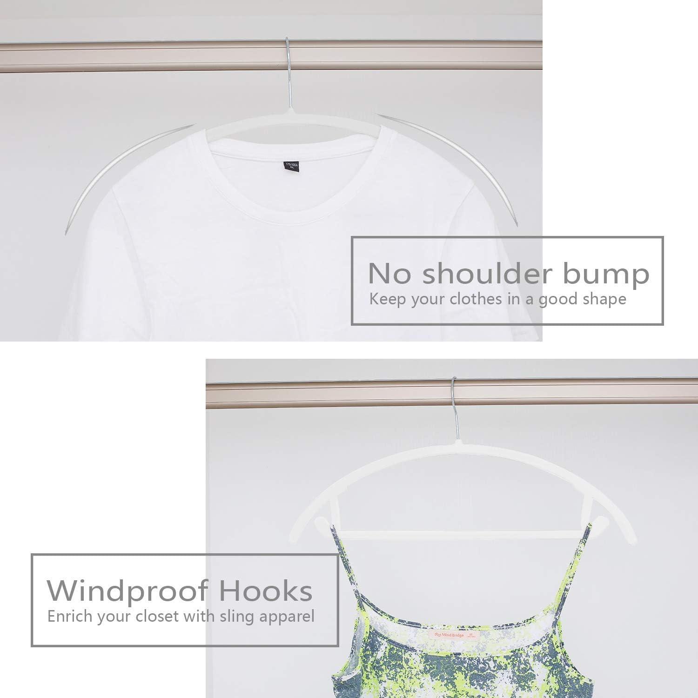 Pack of 30 Heavyduty- Non Slip No Shoulder Bump Suit Hangers Blush Pink//Rose Chrome Hooks,Space Saving Clothes Hangers,Rounded Hangers for Coat,Sweater,Jackets,Pants,Shirt Premium Velvet Hangers