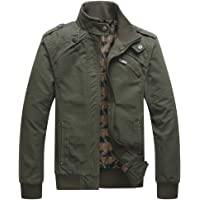 f885f58ddbf1 Dwar Men s Casual Long Sleeve Full Zip Fashion Outdoor Jacket with Shoulder  Straps
