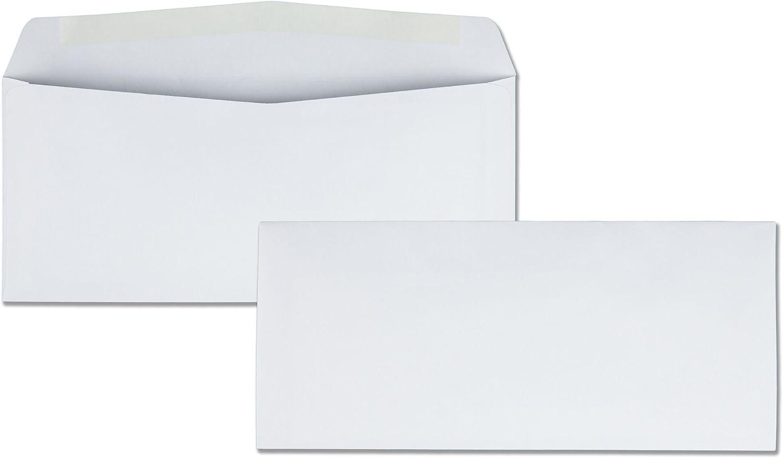 Quality Park #10 Envelopes, 4-1/8 x 9-1/2 Inches, 24 lb White, Gummed, 500 per Box (QUA90020)