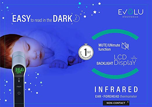 StirnTemperatur professionelles ber/ührungsloses digitales Infrarot-Temperatur Kinder geeignet f/ür Babys Erwachsene genaues sofortiges Ablesen