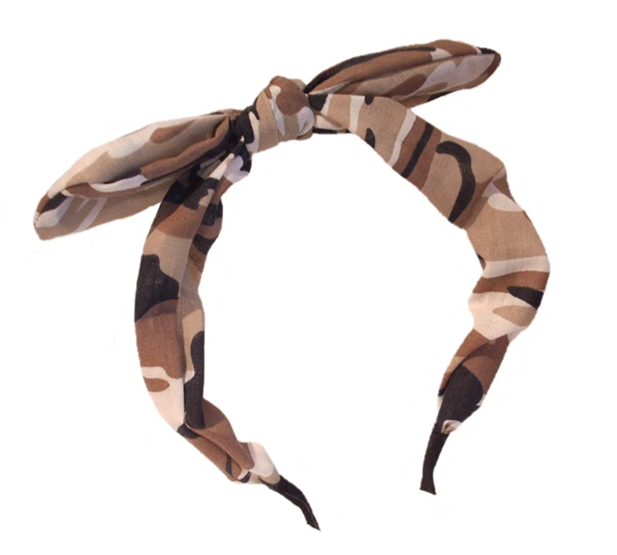 New Wide Ribbon Bowknot Alice Headband Hairband Bunny Rabbit Ears Wire Bendy Bow Choice of Colour