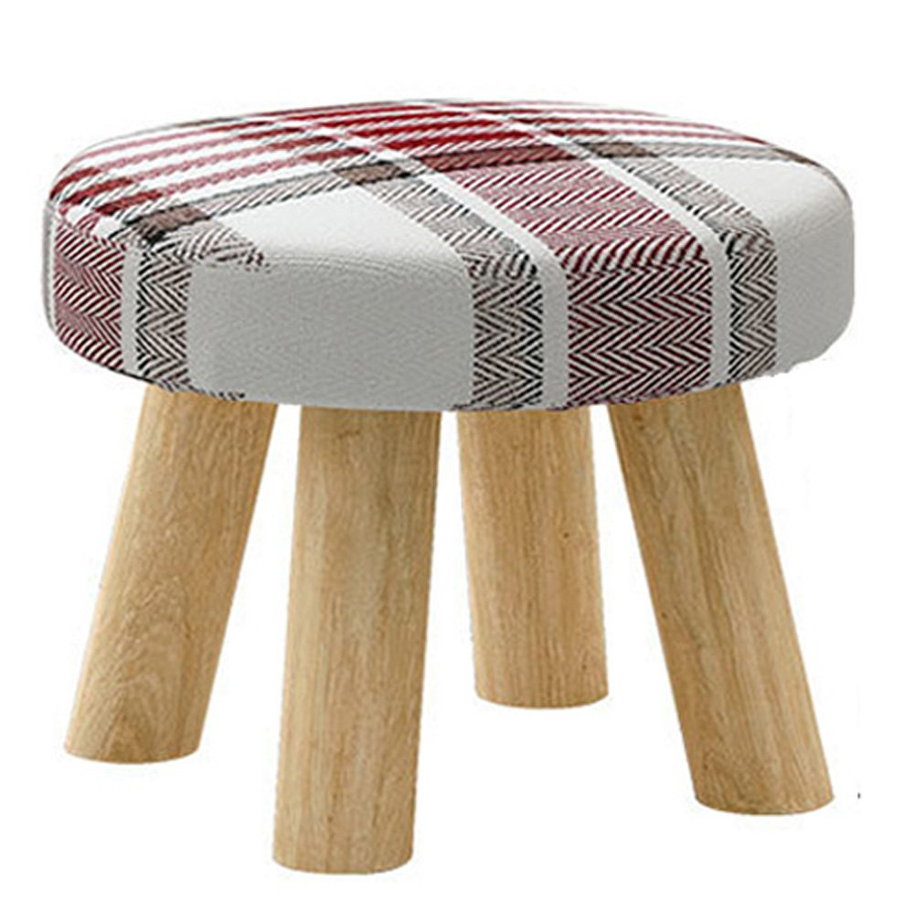 Footstool Fabric Ottomans Bench Seat Foot Rest Step Stool with Feet Protection Design (Blue) Gnehcil