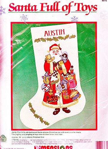 Crewel Embroidery Christmas Stockings - Crewel Christmas Stocking Kit 16