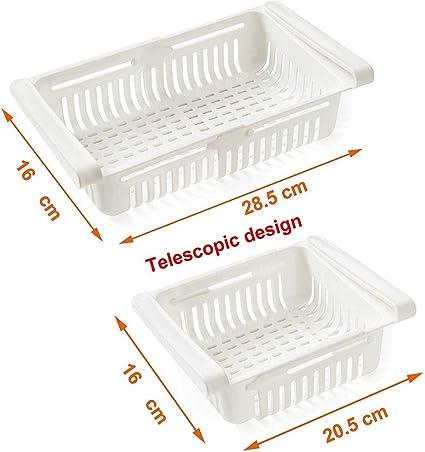 1 Kühlschrank Organizer Schubladenkorb Organizer Bin Kitchen Rack Einstellbar