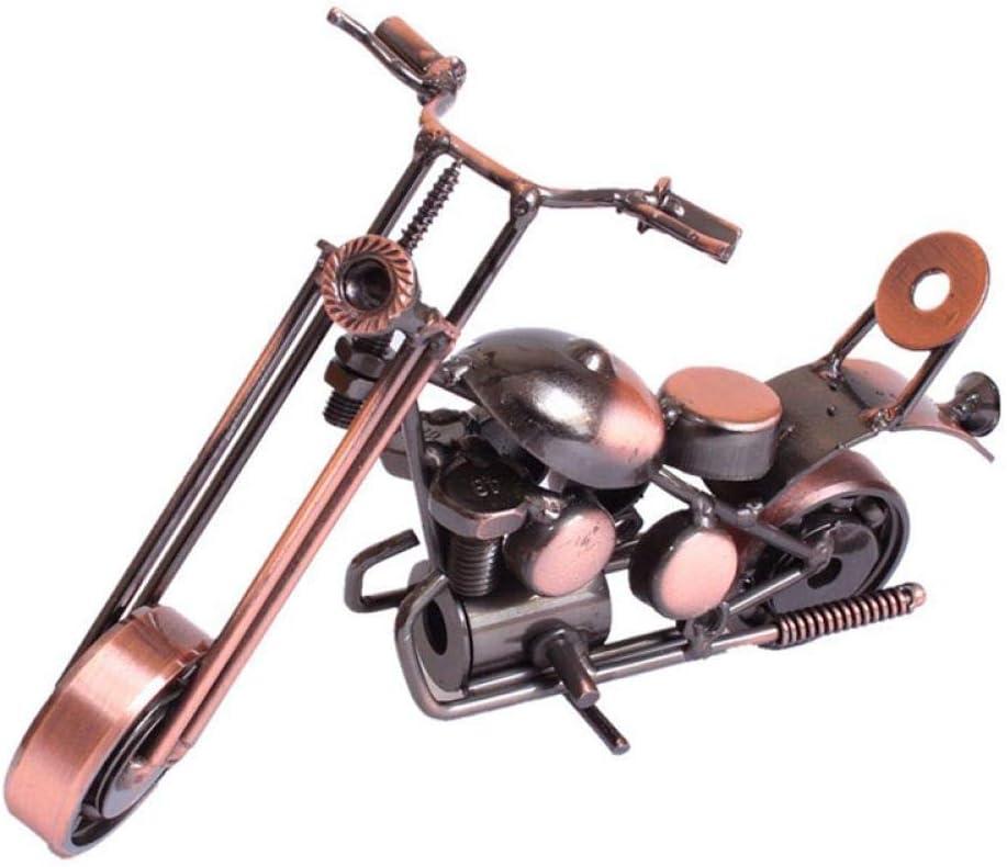 zzzddd Escultura De Escritorio,Decoración Moderna Artesanía Retro Moto De Hierro Escultura Artesanal Artesanía De Metal Vintage Motorcycle Lindo Adorno para El Hogar &Amp; Bar