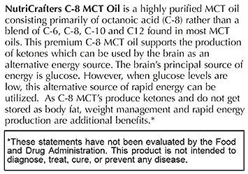 C8 MCT Oil 32 fl. oz. 99.2 C8, 0.69 C10 for Premium Ketone Production