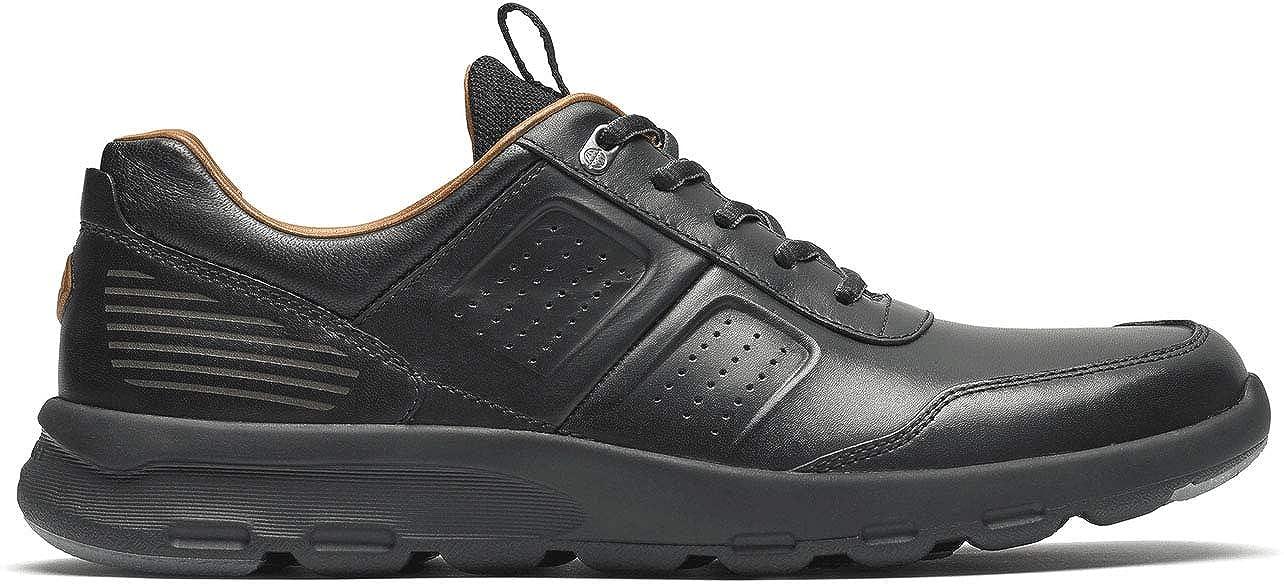 Black Leather Rockport Mens Lets Walk M UBal Sneaker