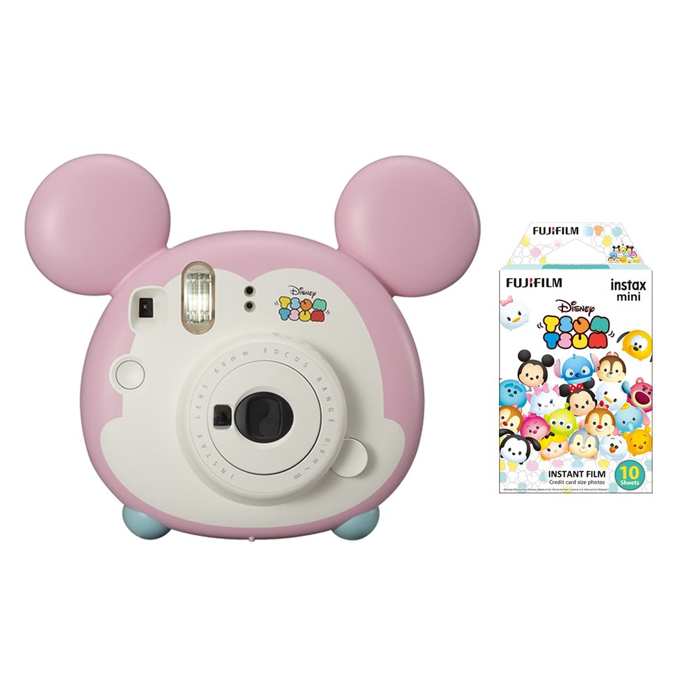 Fujifilm Instax Mini Bundle Set , Fuji Disney Tsumu Tsumu Mickey Instant Camera , Tsumutsumu Film for Cheki [Limited Edition] -Japan Import