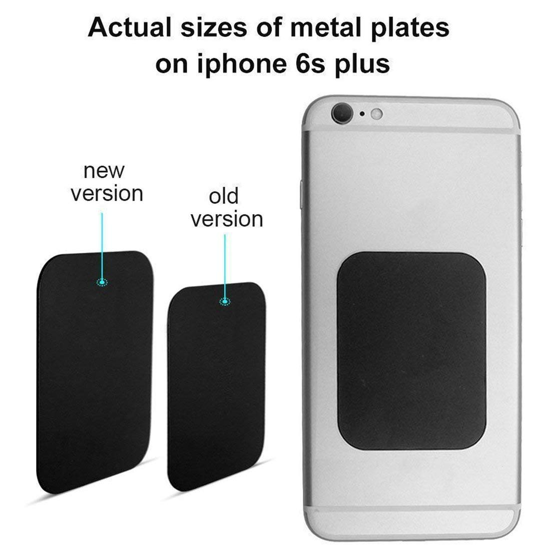 LouiseEvel215 8pcs Metal Plates Sticker Car Mount Replace Metal Adhesive Plate For Magnetic Phone Car Holder Super Thin Steel Insert Plate