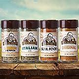 Seasonest Classic Variety 4-Pack Medium Heat ORGANIC Spice Gift Set-Chicken Rub,BBQ and Seasoned Sea Salt,Lemon Pepper,Italian,Vegan/Vegeterian,Soul Food & Cajun,Paleo,ALL Purpose Seasoning Salt