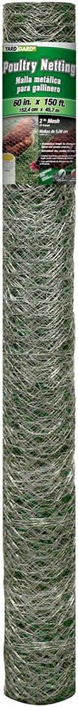 YARDGARD 308497B Fence, 150 feet, Silver