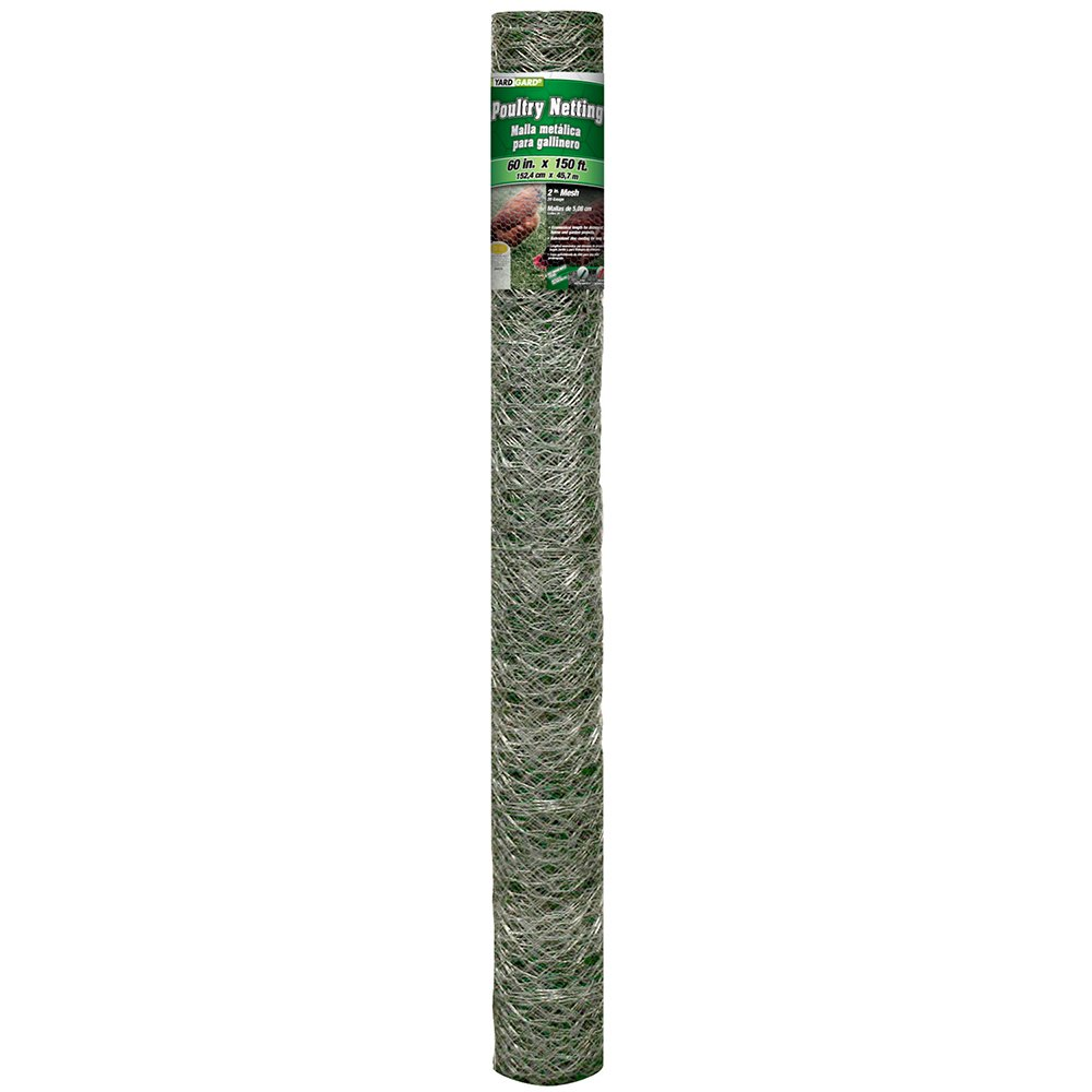 YARDGARD 308497B 5 Foot X 150 foot 2 Inch Mesh Poultry Netting