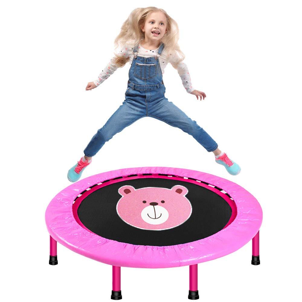 LBLA 40'' Kids Trampoline, Mini Trampoline for Kids with Safety Padded Cover, Foldable Trampoline for Kids Exercise & Play Indoor or Outdoor by LBLA