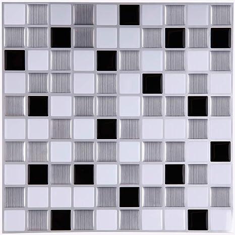 Kitchen Backsplash Black And White
