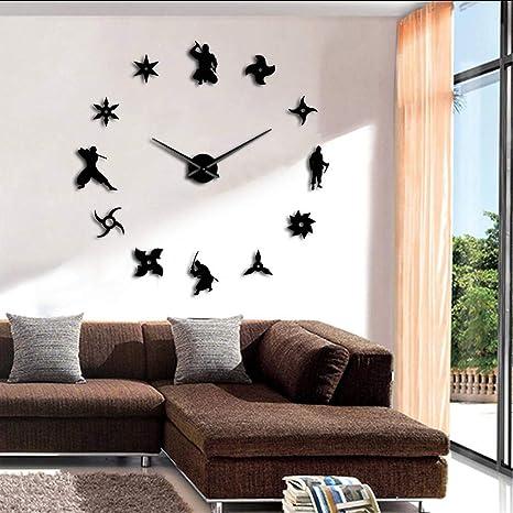 Makeyong Ninja DIY Reloj De Pared Gigante Guerreros ...