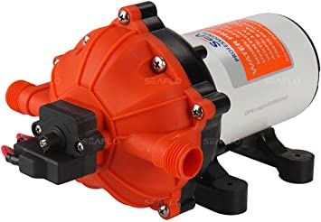 12v 5 5gpm Marine Water Pump Diaphragm 60psi Water System Amazon Com