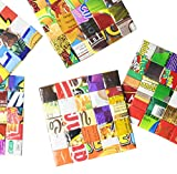 Set of 5 coasters made from candy wrappers - Free shipping, home decoration interior design sweet gum wrapper upcycled upcycle up-cycled recycled lovely gorgeous smart person vegetarians inspiration