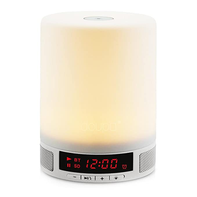 24 opinioni per Doupi Altoparlante touch Bluetooth, con luce notturna a LED e allarme