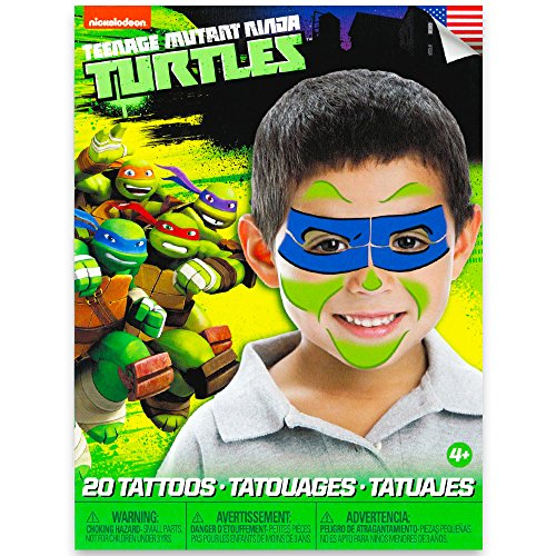 Teenage Mutant Ninja Turtles Mask Children Temporary Tattoos – Leonardo
