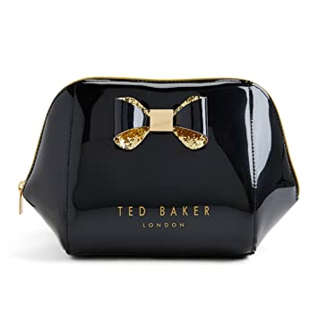 08794c100cad NEW Genuine TED BAKER Large Glitter Bow Makeup Bag Wash Bag (Cosmetics  Case) Perfect Gift  Amazon.co.uk  Beauty