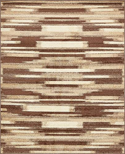 Modern Area Rug (Brown - 8' x 10'-Feet) Giza Collection Home Floor Décor Rugs - Living, Dinning, Office, Rooms & Bedrrom, Hallway Carpet, Home Decorations Area Rugs Floor Mats