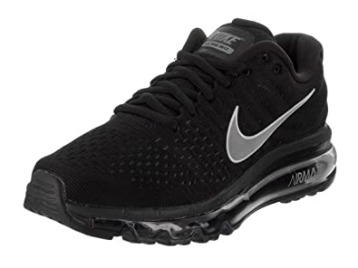 nike air max 2017 black white sports shoes