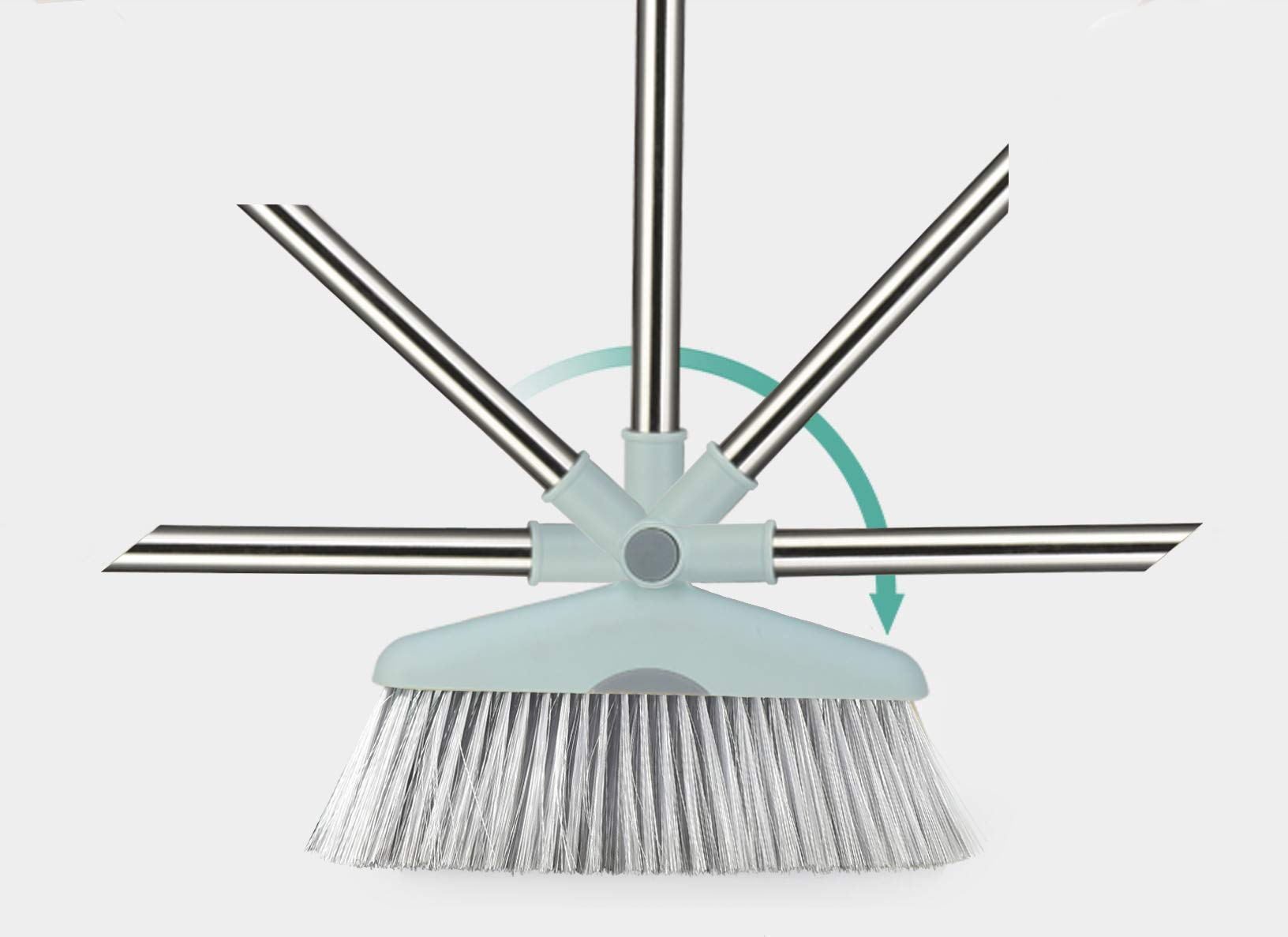 Dust Pan Sweep Set and Broom/Dustpan Cleans Broom Combo with Long Handle Broom Organizer for Home Kitchen Room Office Lobby Floor Use Upright Stand up Dustpan Broom Set by YOUSHANGJIA (Image #3)