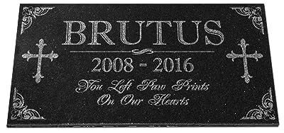 Pet Memorial Stones Personalized Granite Dog Cat Horse Crosss Gravestone Garden Pet Grave Markers