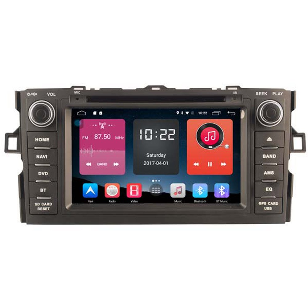 Autosion In Dash Android 6.0 Car DVD Player Sat Nav Radio Head Unit GPS Navigation Stereo for Toyota Auris 2007 2008 2009 2010 2011 Support Bluetooth SD USB Radio OBD WIFI DVR 1080P
