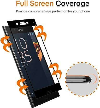 VGUARD 3 Unidades Protector de Pantalla para Sony Xperia X Compact, [Cobertura Completa] Cristal Vidrio Templado Premium, [Dureza 9H] [Anti-Arañazos] [Sin Burbujas]