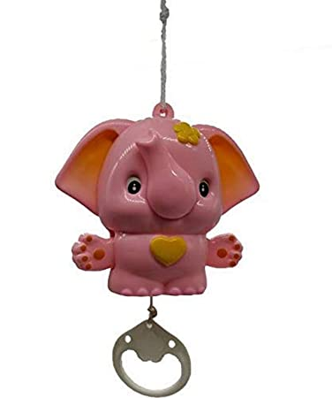 Shreeja Collections Cradle Hanging Elephant Music Bell Toy for Babies Hanging Toys for Infants