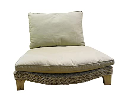 Seagrass Harmony Meditation Chair Natural With Flax Cushion Xoticbrands