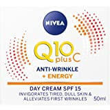 NIVEA Q10 Plus C Anti-Wrinkle Day Cream SPF15 with Vitamin C & Creatine for Tired & Dull Skin 50ml