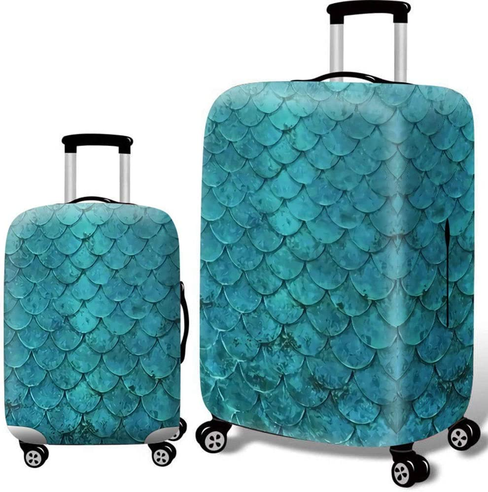 DHUYUN-Bag Luggage Cover Protector 18-32 Inch Waterproof Elastic Travel Luggage Cover 3D Print Suitcase Protector Washable Baggage Covers Color : Dog, Size : S 18-21