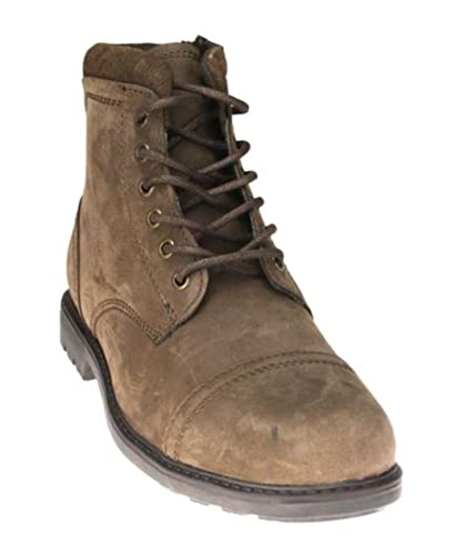 714507e8501 Red Tape Hurley Brown Lace up Chelsea, Ankle Boots Zip Leather Mens