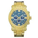 JBW Luxury Men's Lynx 0.80 Carat Diamond Wrist Watch with Stainless Steel Bracelet