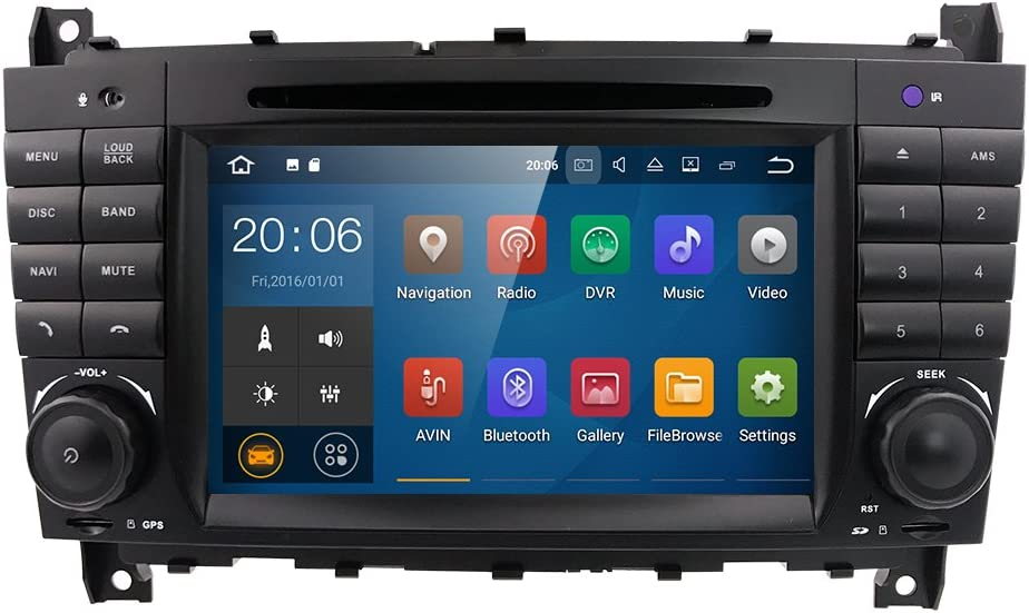 Hizpo Android 7 1 Car Audio Stereo For Mercedes Benz W203 W209 1024 600 Touch Dvd Player Double Din Head Unit Support Gps Sat Nav Dab Bt Rds Radio Mirror Link Swc 4g Wifi Cam In Obd2 Dvr Navigation Car Hifi