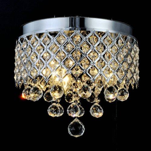 LightInTheBox Classic Luxury Crystal Ceiling lamp Flush Mount Chrome Chandelier Lighting Fixture 110-120V