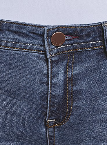 Blu Oodji Up Jeans Ultra 7500w Push Donna Skinny xqYBPa