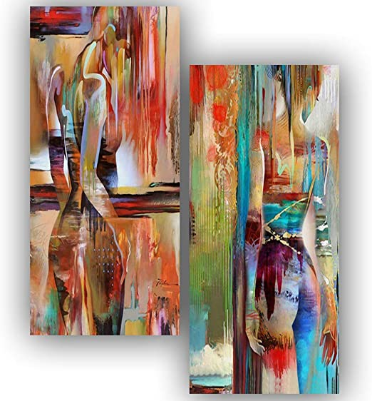Abstract Watercolor Woman Canvas Wall Art Painting Poster Home Cafe Wall Decor